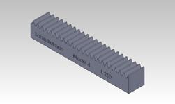 ŞAHİN RULMAN / Kramayer Dişli Modül 4 40x40 L-250