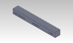 ŞAHİN RULMAN / Kramayer Dişli Modül 6 60x60 L-500